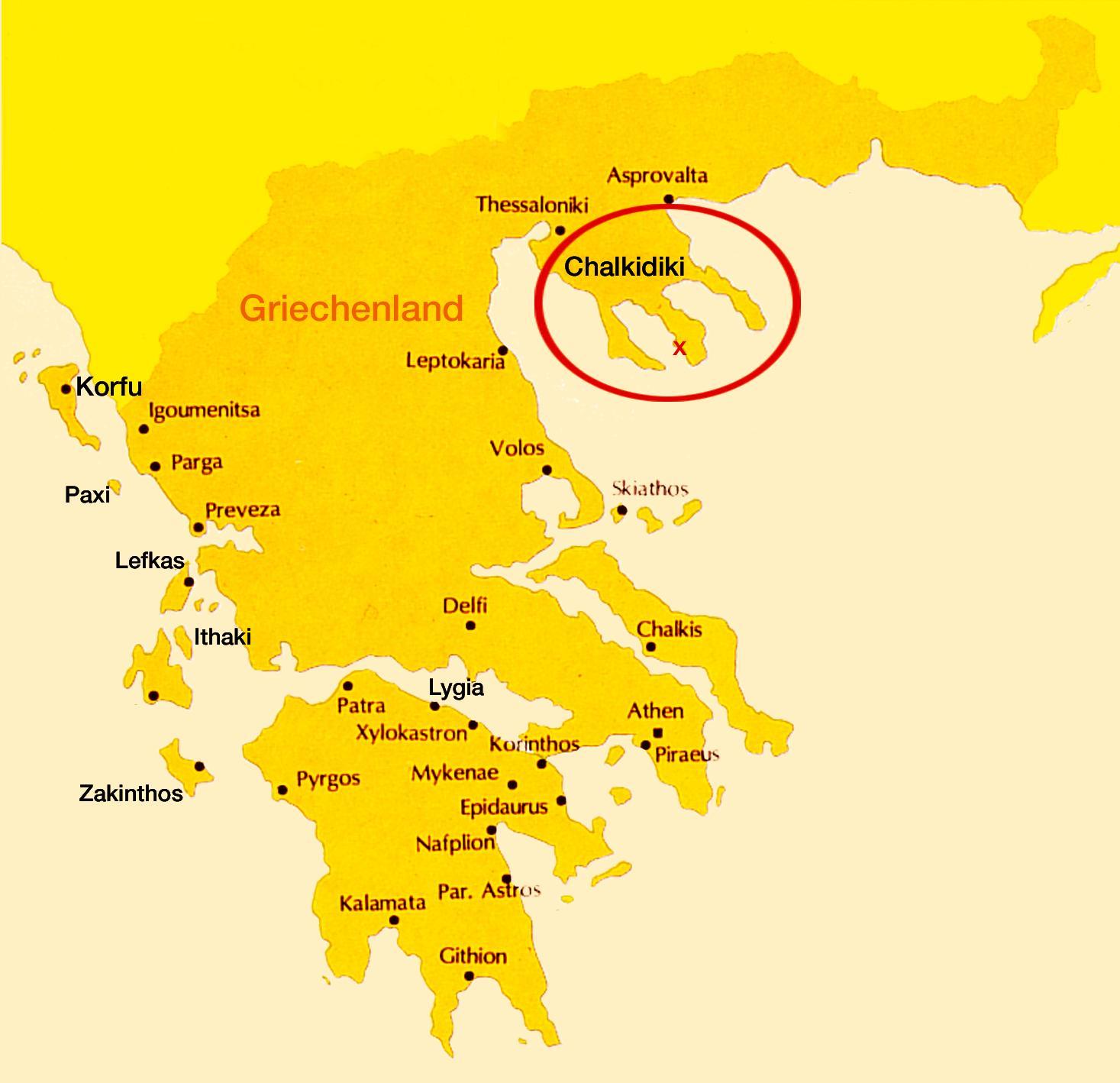 chalkidiki griechenland karte Urlaub Chalkidiki Hotel in direkt am Strand auf Sithonia