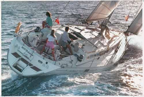 Segelurlaub auf der Sheria. Eine Beneteau 500 ab Korfu.