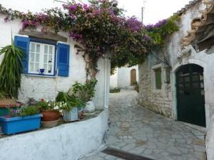 Urige griechische Dörfer, hier Afionas bei Agios Georgios