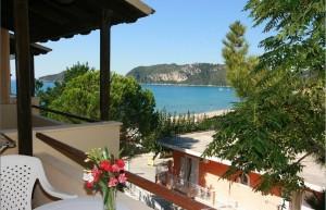 Kleiner, aber feiner Balkon mit tollem Meerblick vom Preistipp-Ein-Zimmer-Appartement Helena
