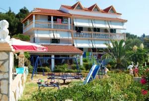 Kinderspielplatz, Gartenbereich und toller Meerblick im Haus Magdalena