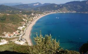 3 Kilometer Sandstrand in Agios Georgios