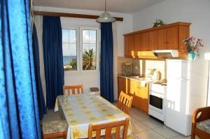 Küche des großen Zwei-Zimmer-Appartements Magda