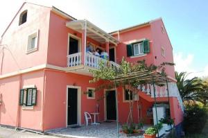 Rückansicht Haus Stefanos auf Korfu