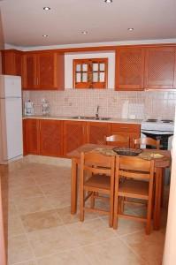 Küchenbereich Ferienwohnung Irini