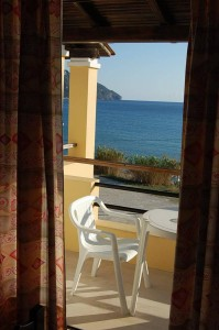 Toller Meerblick von den Zimmern mit Frühstück im Haus Vasili