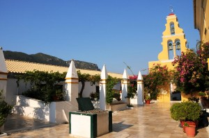 Klosterhof bei Paleokastritza auf Korfu