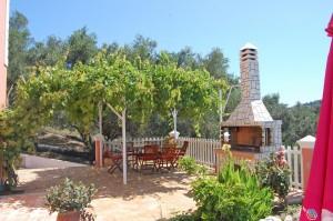 Grillbereich des Ferienhauses Irini