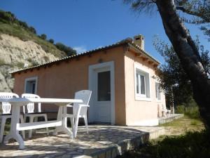 Terrasse des Ferienhauses Nikolas in Agios Georgios
