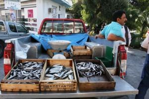 Mobiler Fischmarkt auf Chalkidiki