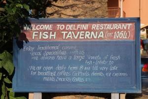 griechische Taverne auf Korfu