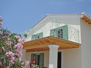 Kleiner Balkon Ferienhaus Jannis