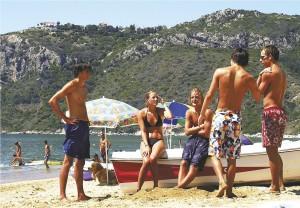 Jugendliche in Agios Georgios