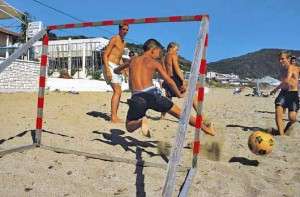 Beachsoccer in Agios Georgios