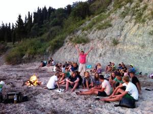Jugendtreff in Agios Georgios mit Corfelios