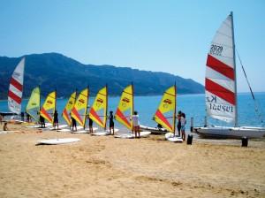 VDWS-lizensierte Surf- und Segelschule von Corfelios in Agios Georgios
