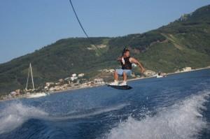Wakeboarden auf Korfu in Agios Georgios