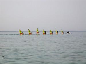 Surfen lernen in der Bucht Agios Georgios