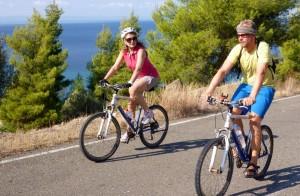 Mountainbiken an der Küste Griechenlands
