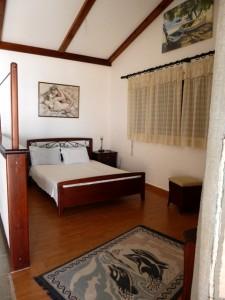 Optisch abgetrennter Schlafbereich Haus Patras