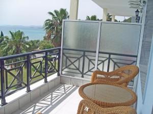 Balkonbeispiel im Hotel Lily Ann Beach auf Sithonia