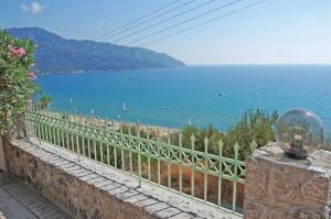 Toller Blick auf Agios Georgios vom Ferienhaus Tatjana