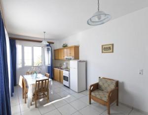 Küche des großen Zwei-Zimmer-Appartements Haus Magda