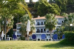 Hotel mit Gartenbereich